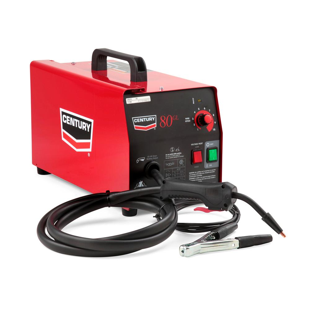 Lincoln Electric 70 Amp 80GL Wire Feed Flux Core Welder and Gun with  Flux-Cored