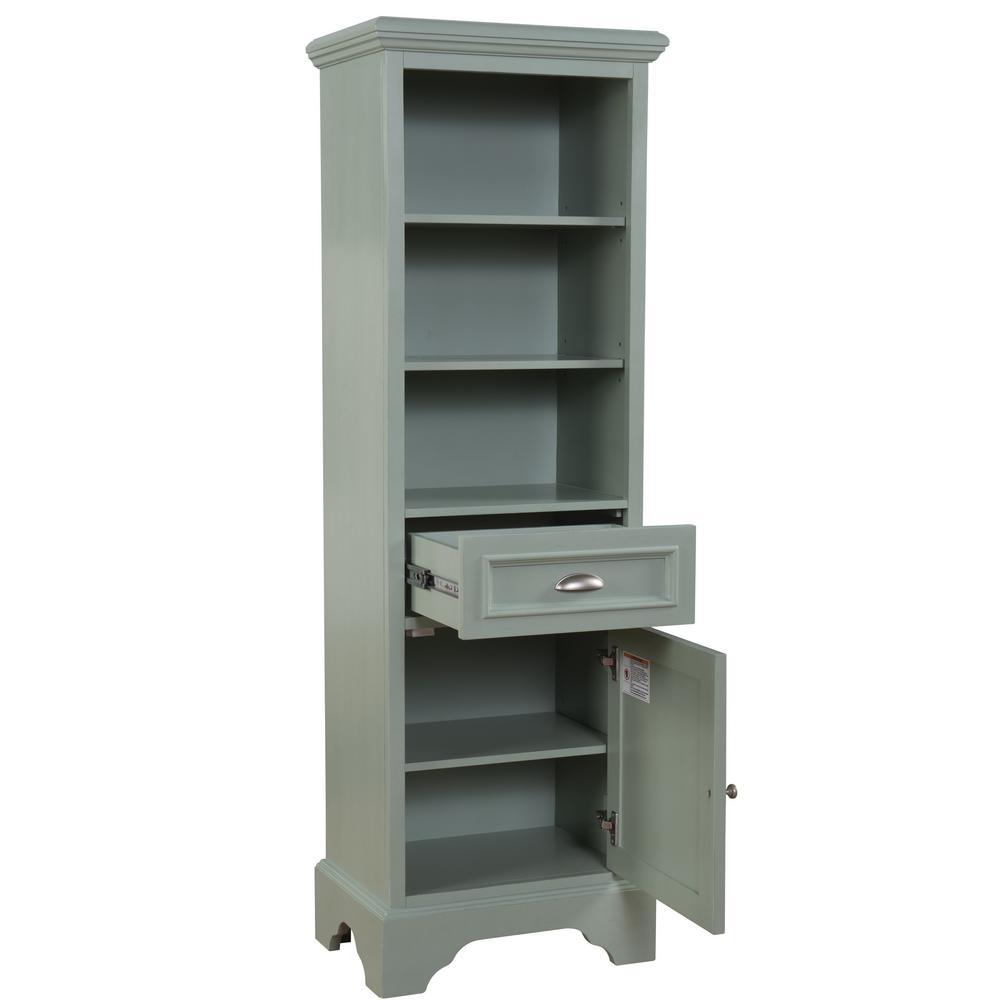 Sadie 20 in. W x 14 in. D x 64.5 in. H Bath Linen Cabinet in Dove Grey