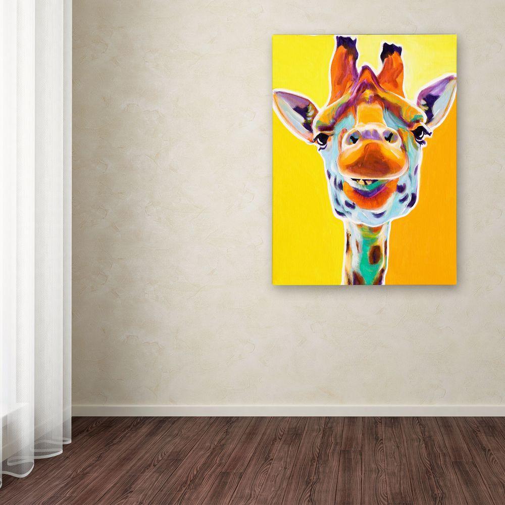 "24 in. x 18 in. ""Giraffe No. 3"" by DawgArt Printed Canvas Wall Art"