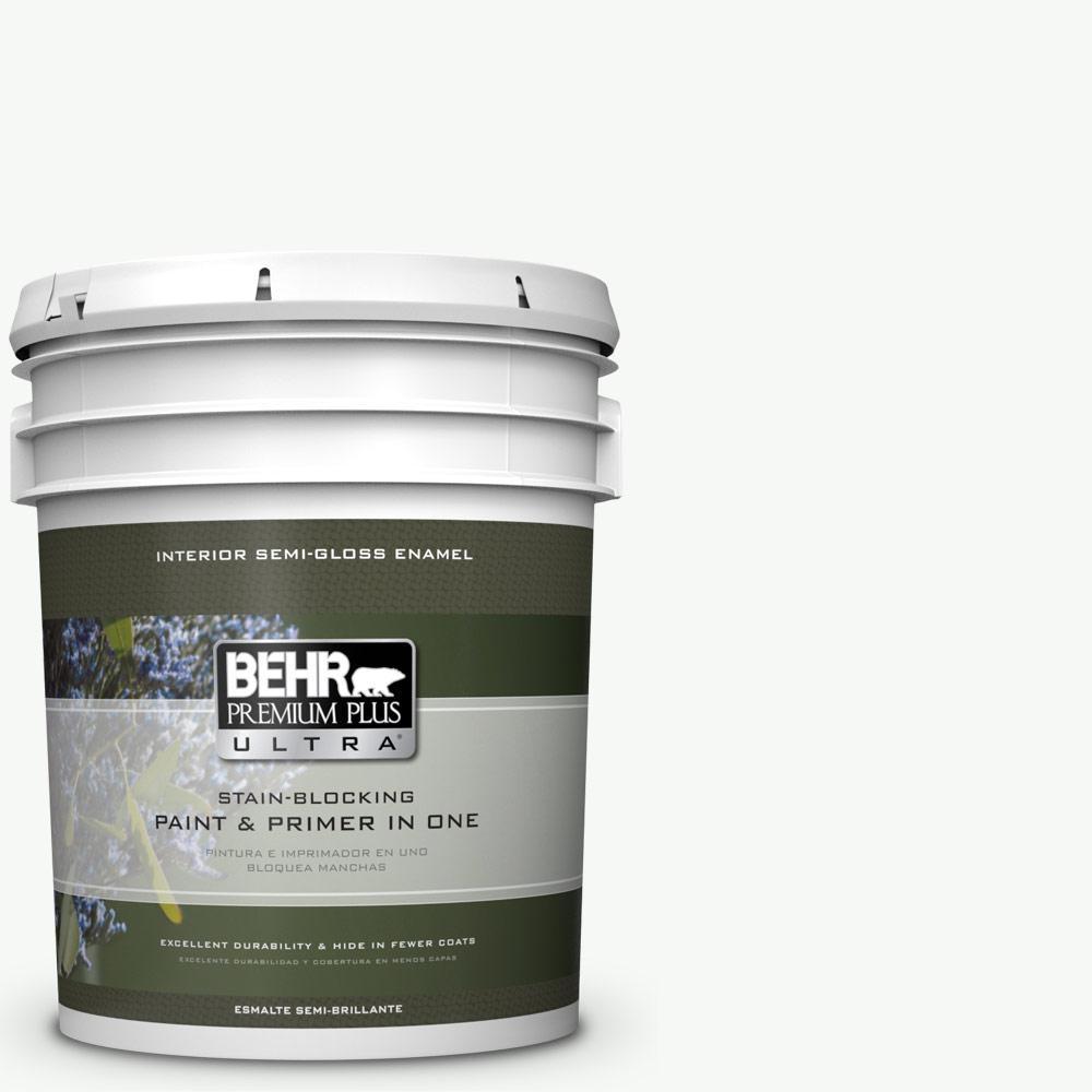 5 gal. #HDC-NT-04G Blanca Peak Semi-Gloss Enamel Interior Paint