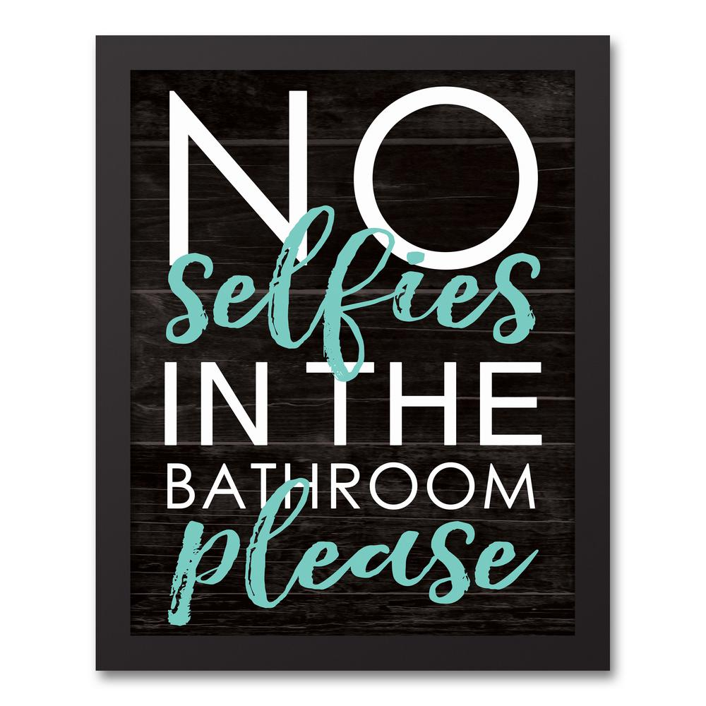 "20 Inspirations Of Bathroom Canvas Wall Art: DESIGNS DIRECT 14 In. X 11 In. ""No Selfies In The Bathroom"