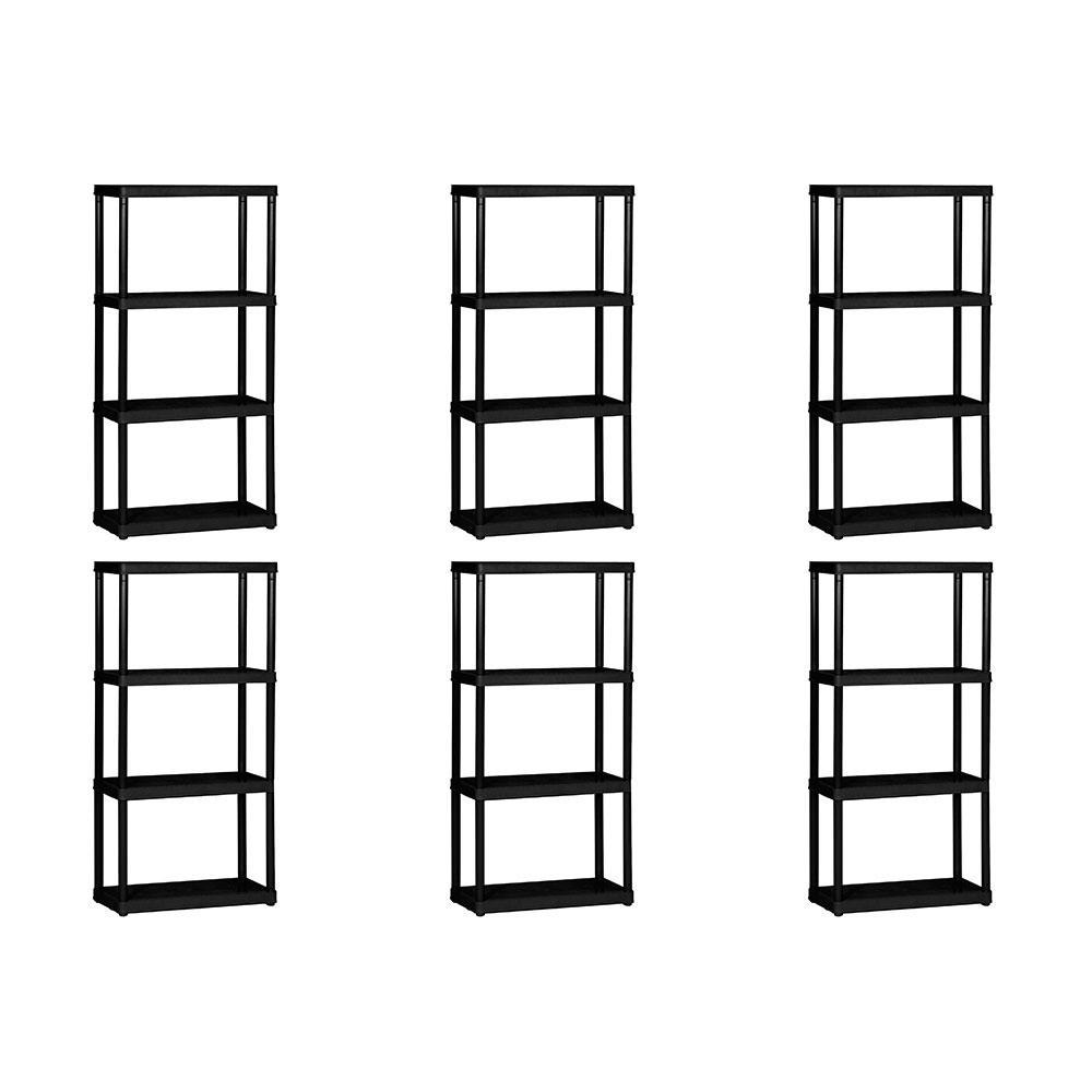 4-Tier Shelf Indoor Garage Storage Shelving Unit (6 Pack)