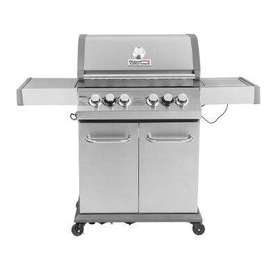 Luxury 4-Burner in Stainless Steel Propane Gas Grill with Side Sear Burner and Infrared Technology