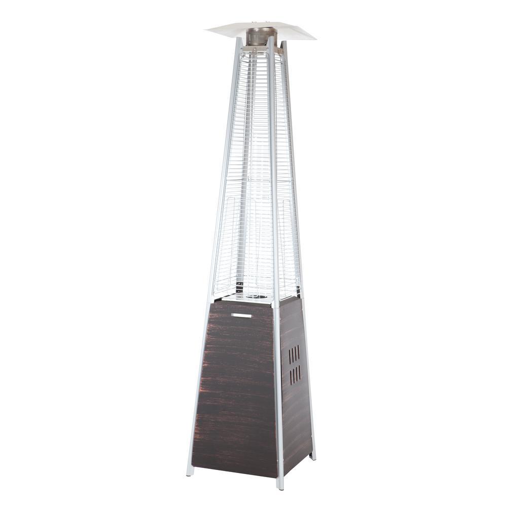 40,000 BTU Coronado Brushed Bronze Pyramid Flame Gas Patio Heater