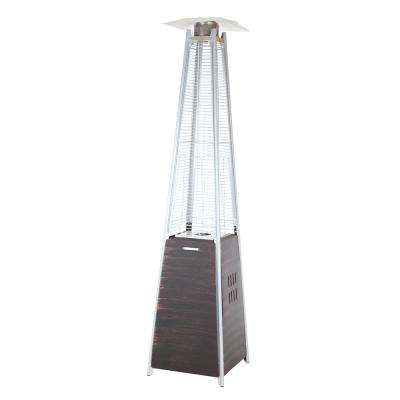 40,000 BTU Coronado Brushed Bronze Pyramid Flame Gas Patio Heater