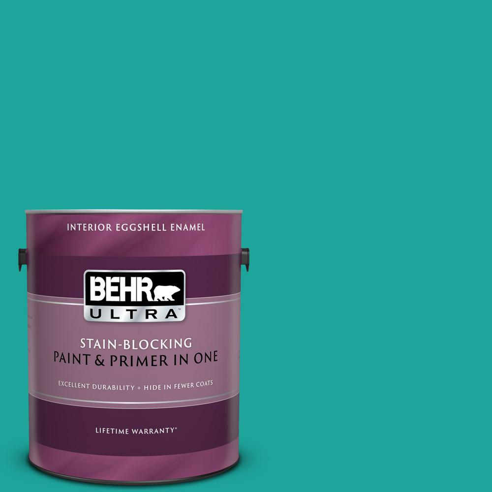 BEHR ULTRA 1 gal. Home Decorators Collection #HDC-MD-22 Tropical Sea Eggshell Enamel Interior Paint & Primer