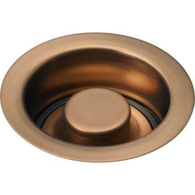 4-1/2 in. Kitchen Sink Disposal and Flange Stopper in Brilliance Brushed Bronze