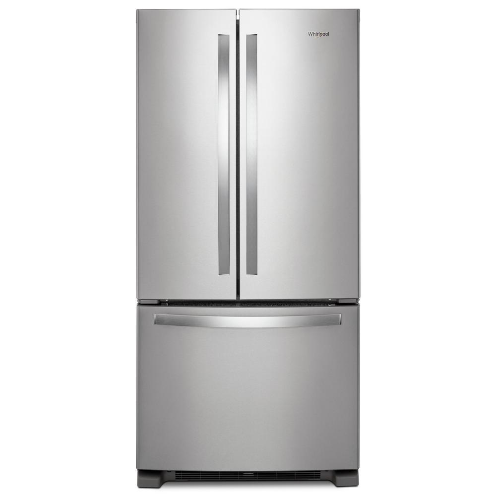 French Door 22 cubic foot french door refrigerator pictures : Whirlpool 33 in. W 22 cu. ft. French Door Refrigerator in ...