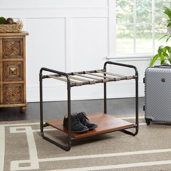Silverwood Furniture Reimagined Anderson Black And Brown Luggage