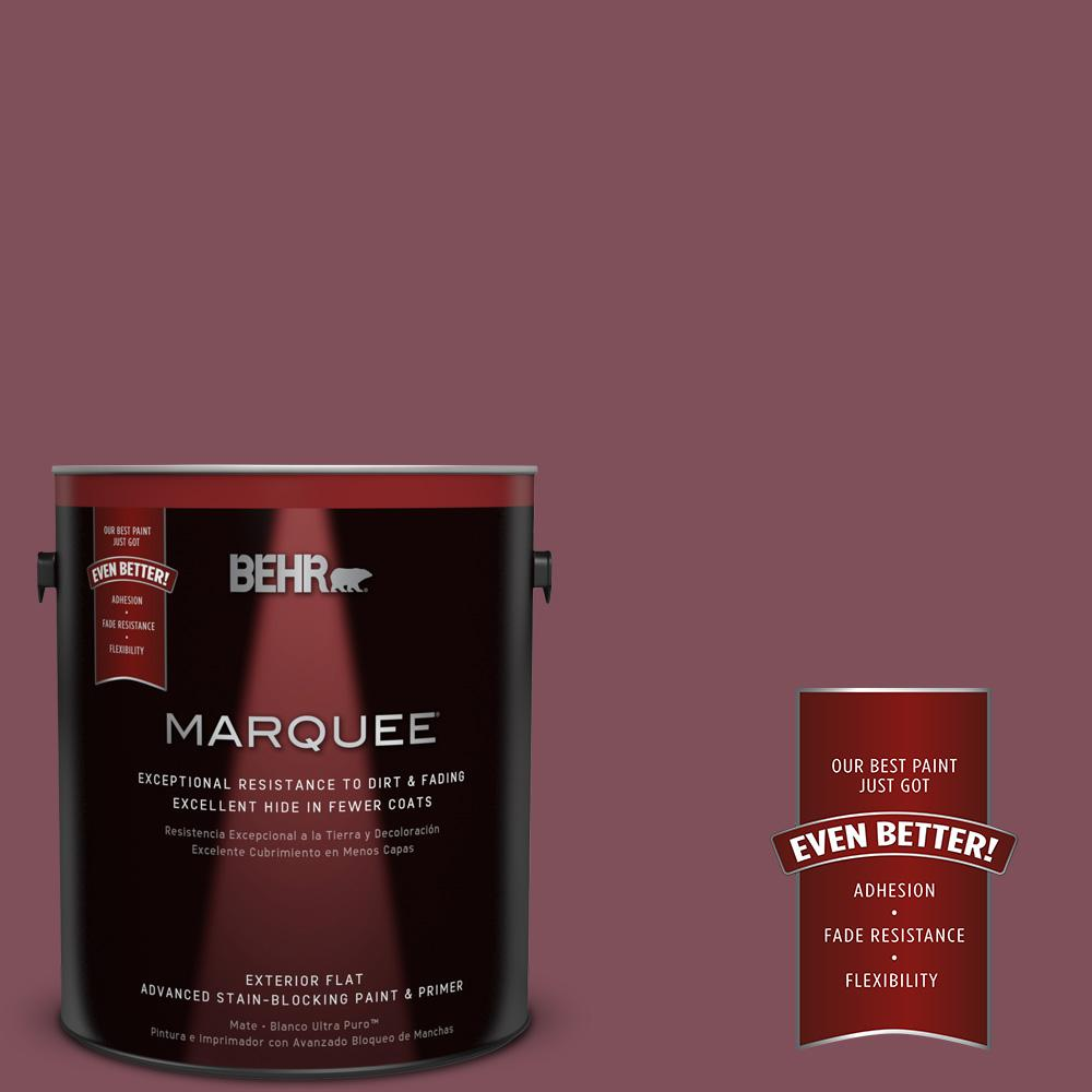 BEHR MARQUEE Home Decorators Collection 1-gal. #HDC-CL-02 Fine Burgundy Flat Exterior Paint