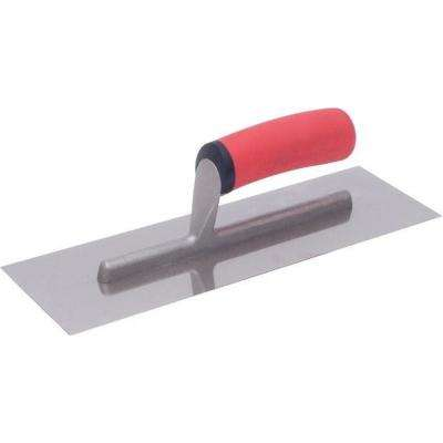 12 in. x 4 in. Stainless Steel Finishing Trowel with Soft Grip Handle