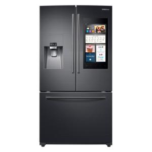 Click here to buy Samsung 24.6 cu. ft. Family Hub French Door Smart Refrigerator in Black Stainless Steel by Samsung.