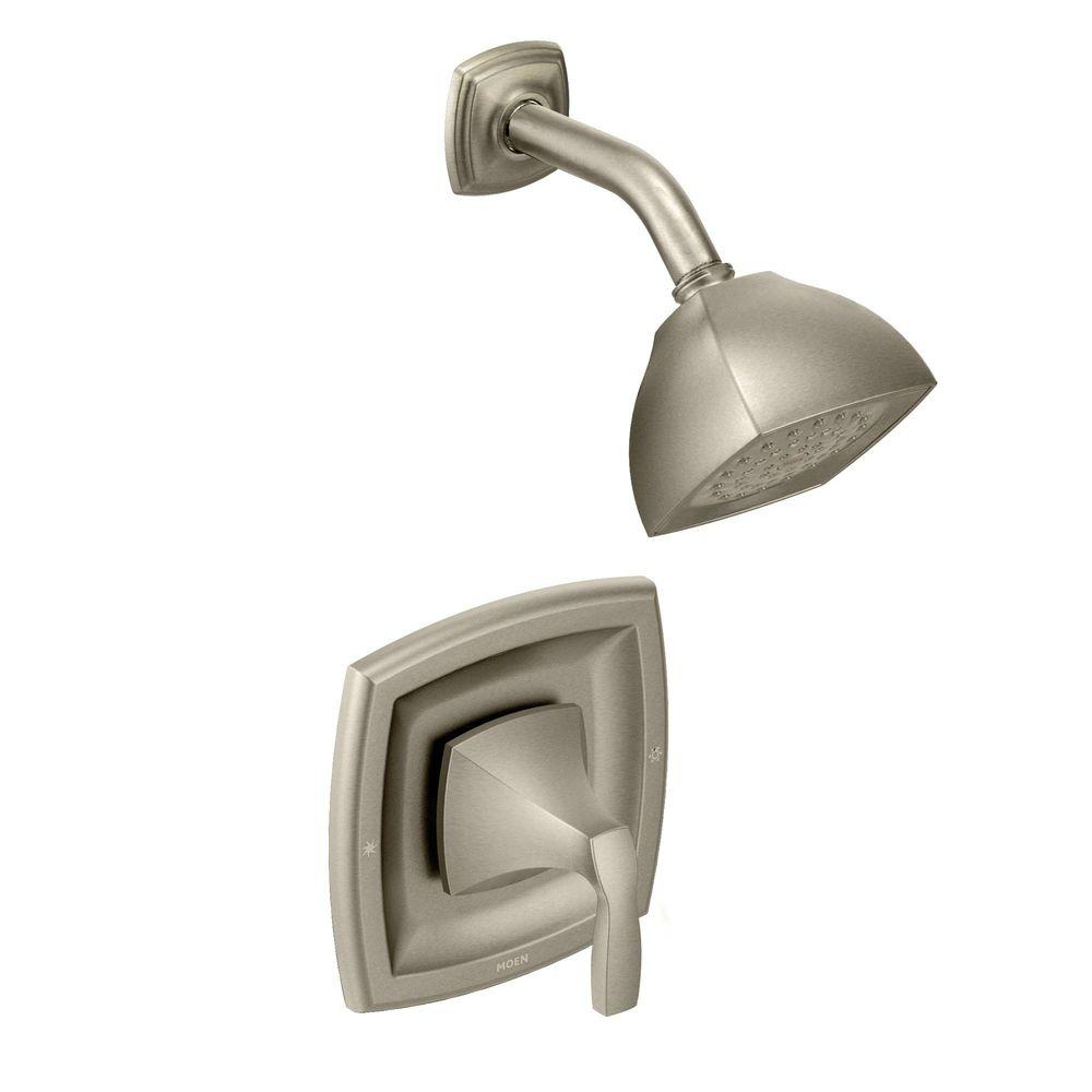 MOEN Voss Posi-Temp Single-Handle 1-Spray Shower Faucet Trim Kit in Brushed Nickel (Valve Not Included)