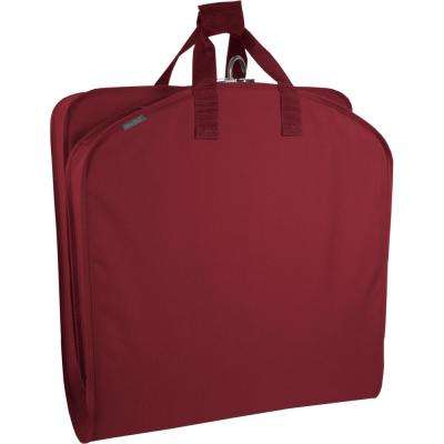 40 in. Red Suit Length Carry-On Garment Bag