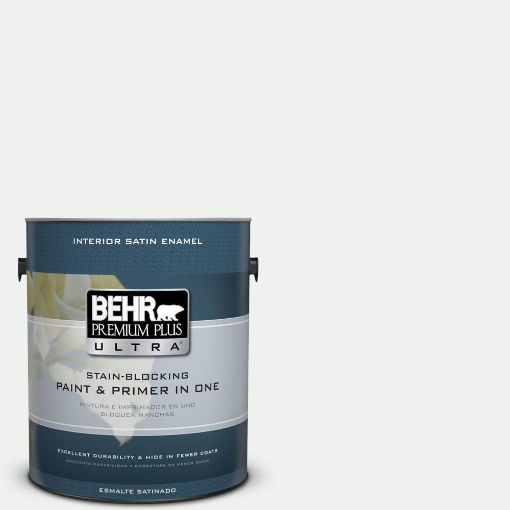 BEHR Premium Plus Ultra 1-gal. #ECC-65-2 Mineral Spring Satin Enamel Interior Paint