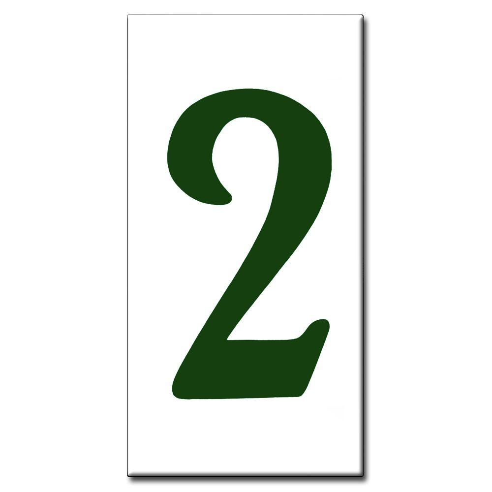 null 3 in. x 6 in. Green Standard Number 2