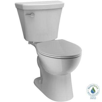 Turner 2-Piece 1.28 GPF Single Flush Round Front Toilet in White