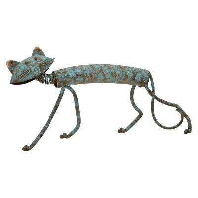 14.5 in. Metal Cat in Blue