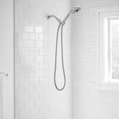 Lavmere 7-Spray 4.2 in. Single Wall Mount Handheld Adjustable Shower Head in Chrome