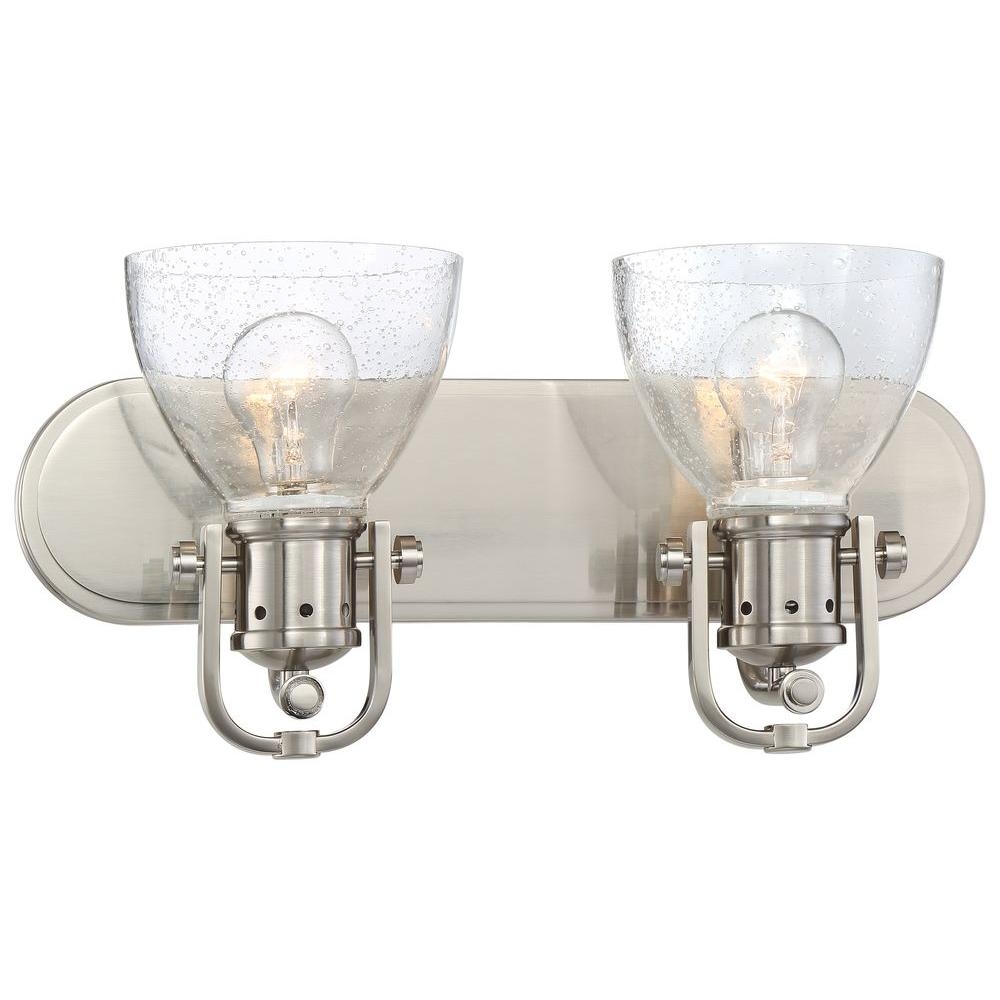 Minka Lavery Parsons Studio Light Brushed Nickel Bath Light - Polished nickel bathroom light fixtures