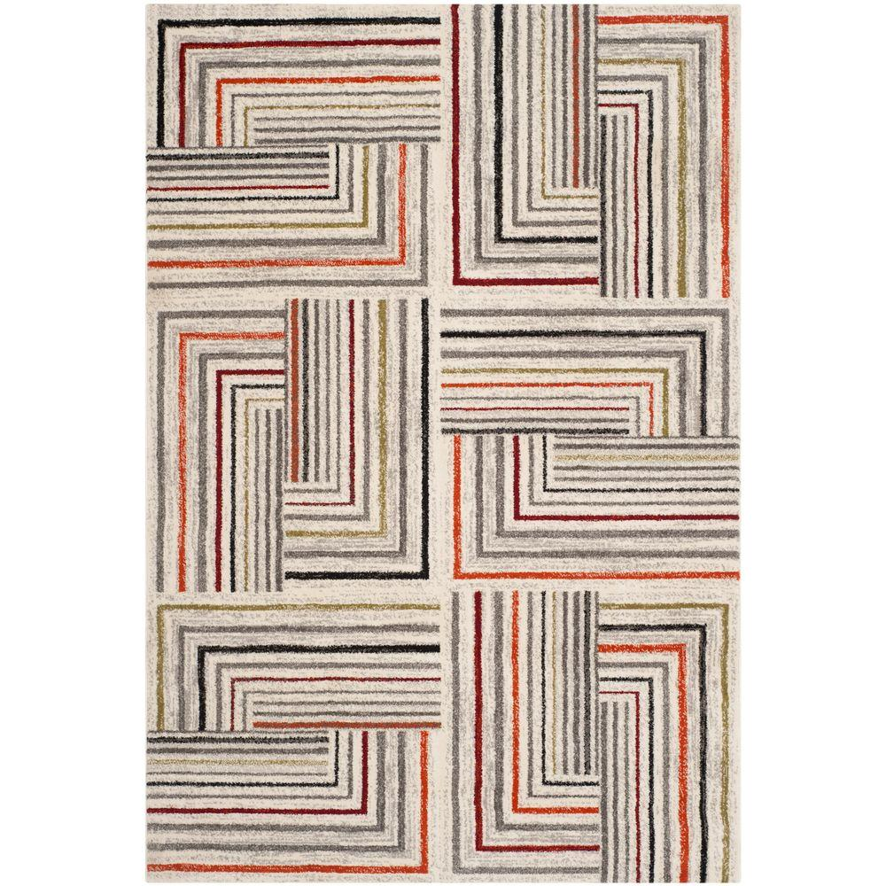 Safavieh Porcello Ivory/Grey 6 ft. 7 in. x 9 ft. 6 in. Area Rug