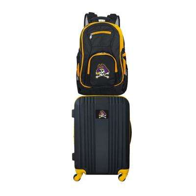NCAA East Carolina Pirates 2-Piece Set Luggage and Backpack
