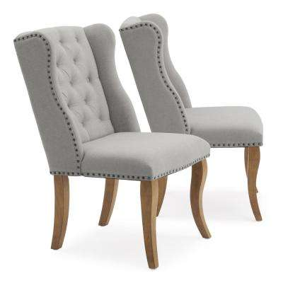 Avignon Grey Upholstered Tufted Dining Chairs (Set of 2)