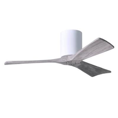 Irene 42 in. Indoor/Outdoor Gloss White Ceiling Fan with Remote Control and Wall Control
