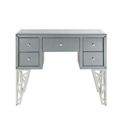 Stephen II Mirrored and Chrome Console Table