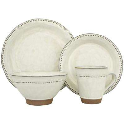 Cyprus White 16-Piece Dinnerware Set