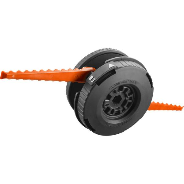Reel Easy+ 2-in-1 Pivoting Fixed Line and Bladed Head for Bump Feed Trimmers
