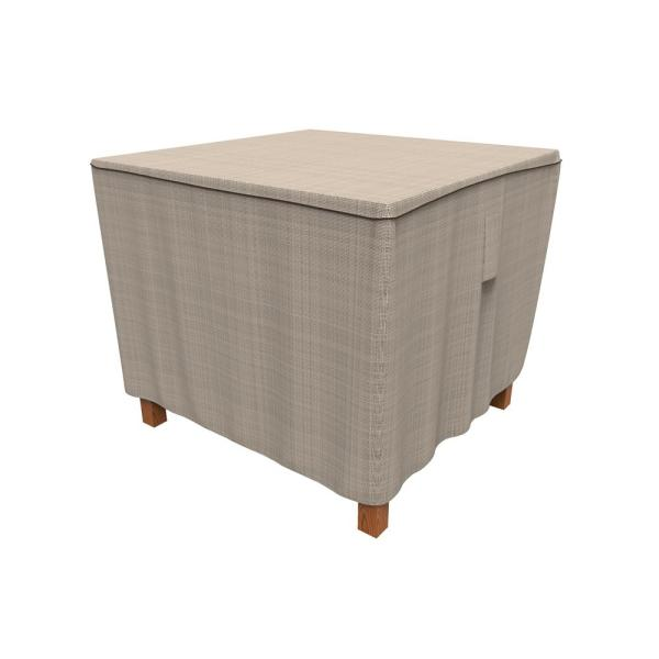 Rust-Oleum NeverWet Mojave Small Black Ivory Square Patio Table Cover
