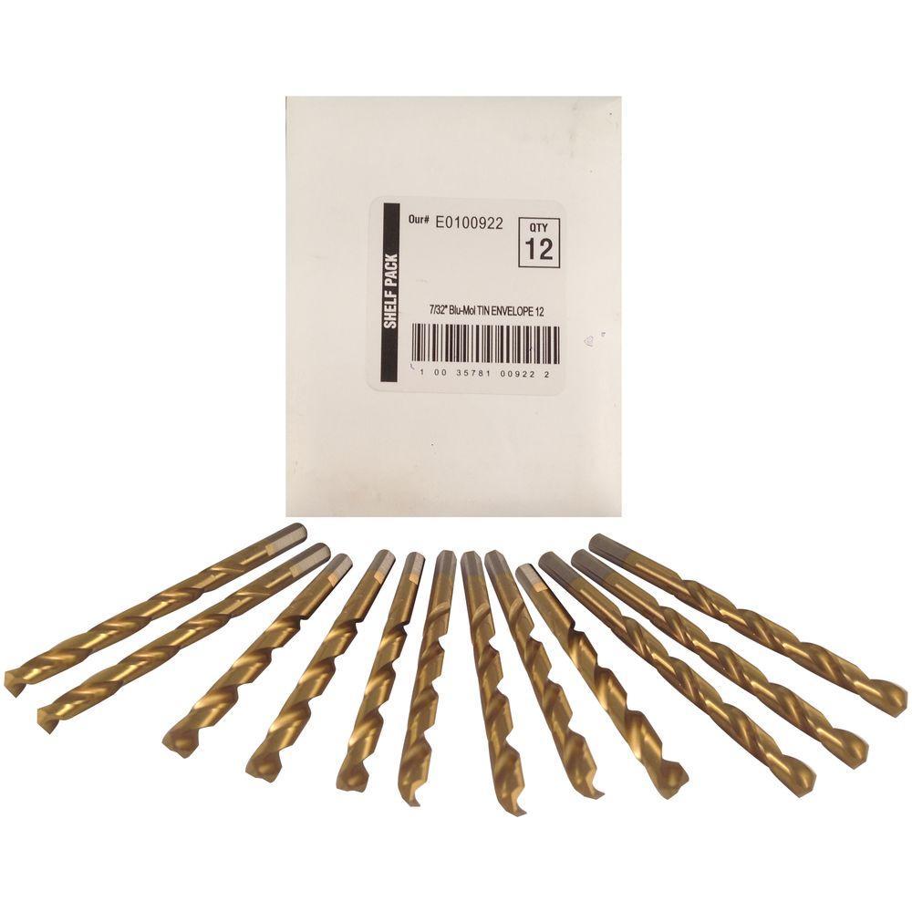 7/32 in. Diameter Titanium Jobber Drill Bit (12-Pack)