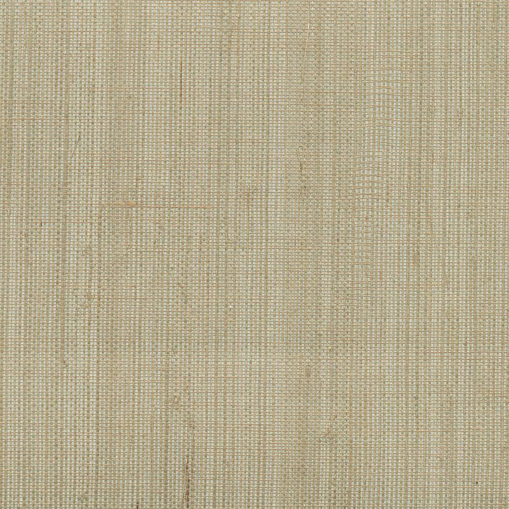 2693 30273 Light Grey Grasscloth: Kenneth James Han Me Silver Foil Grass Wallpaper-2693