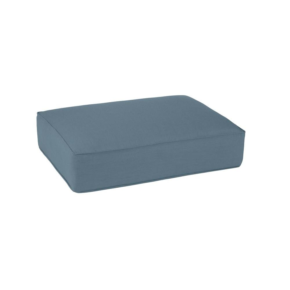 Northshore Replacement Outdoor Ottoman Cushion in Denim