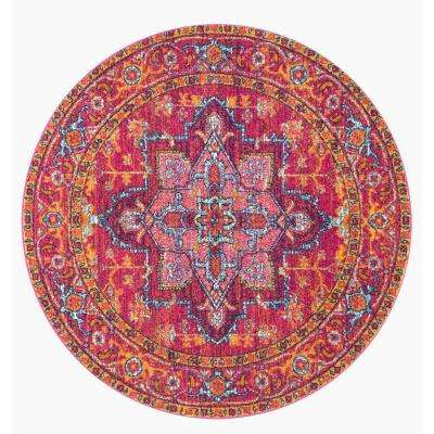 Round Pink Area Rugs Rugs The Home Depot