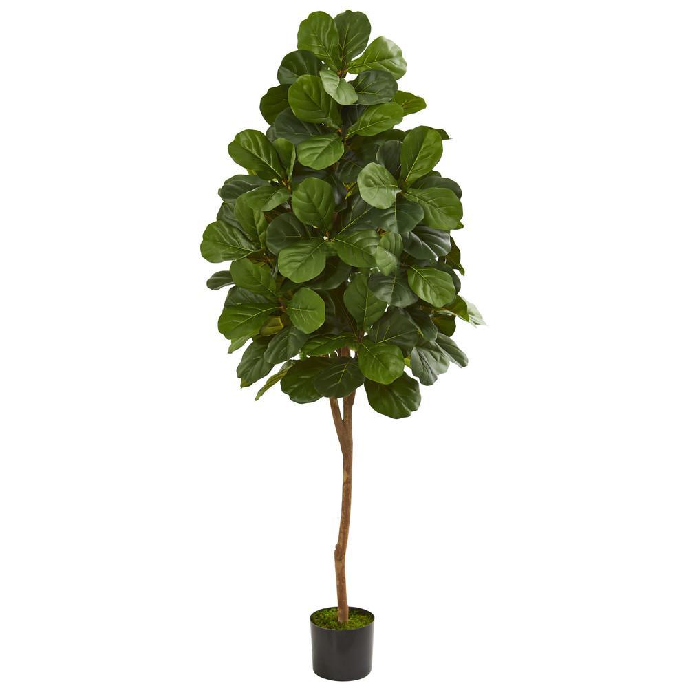 nearly natural indoor 6 ft fiddle leaf fig artificial tree 5550 the home depot. Black Bedroom Furniture Sets. Home Design Ideas