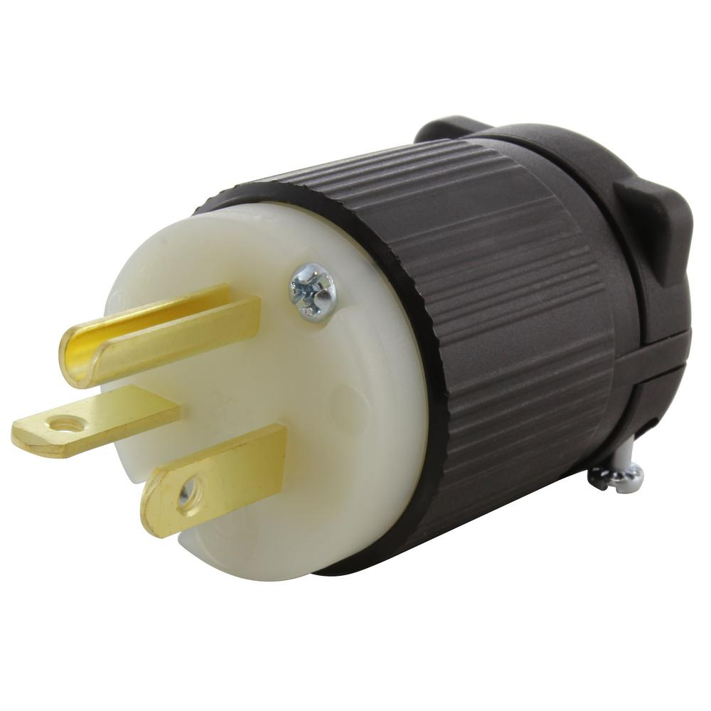 Ac Works 20 Amp 125 Volt Nema 5 20p 3 Prong Industrial Heavy Duty Grade Male Plug As520p The Home Depot