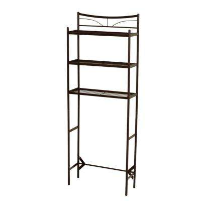 Hawthorne 24-1/2 in. W x 65 in. H x 9-1/2 in. D Metal 3-Shelf Over the Toilet Storage Space Saver in Oil Rubbed Bronze