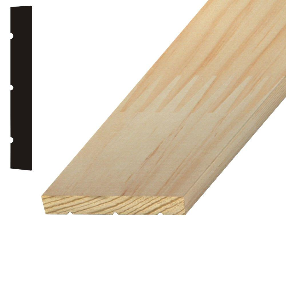11/16 in. x 5-1/4 in. x 84 in. Finger-Jointed Pine Interior