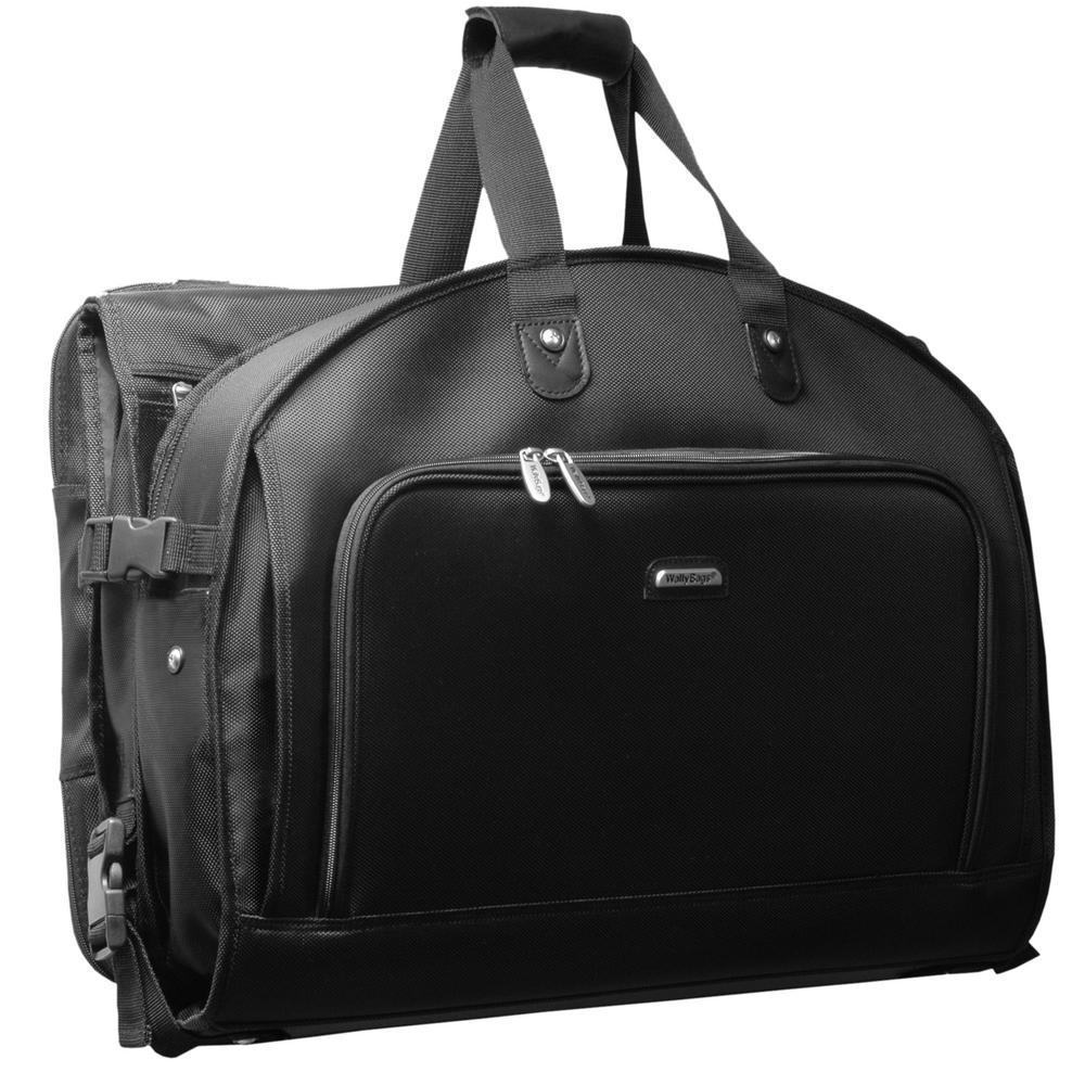 Framed Tri Fold Garment Bag With Shoulder Strap And Multiple Accessory