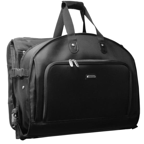 WallyBags 52 in. Framed Tri-Fold Garment Bag with Shoulder Strap and Multiple Accessory Pockets