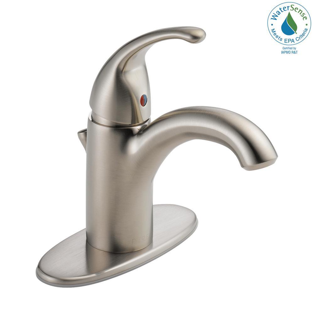 Tunbridge Single Hole Single-Handle Bathroom Faucet in Brushed Nickel