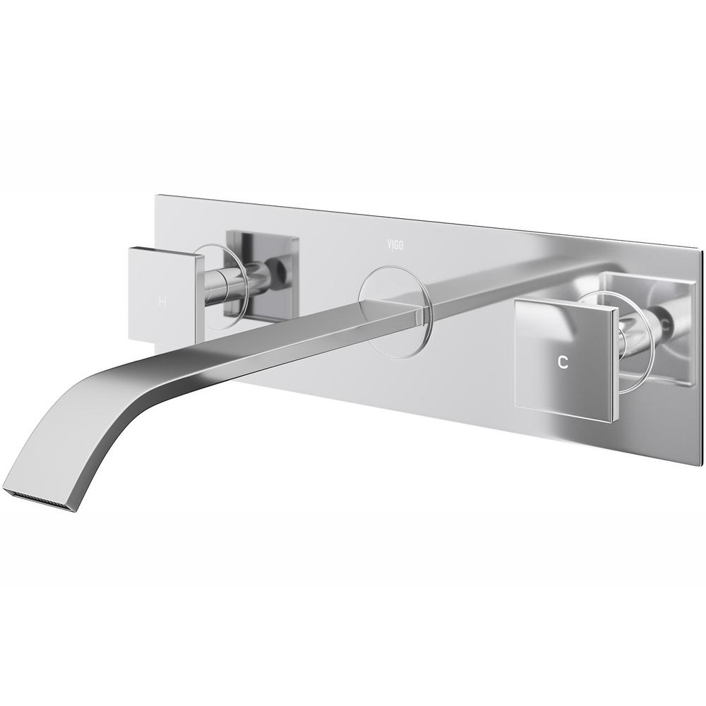 VIGO Titus 2-Handle Wall-Mount Vessel Bathroom Faucet in Chrome