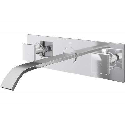Titus 2-Handle Wall-Mount Vessel Bathroom Faucet in Chrome
