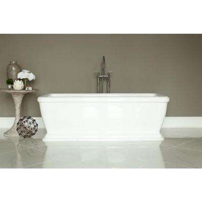 Spirit 5.75 ft. Acrylic Flatbottom Non-Whirlpool Bathtub Rectangle in White
