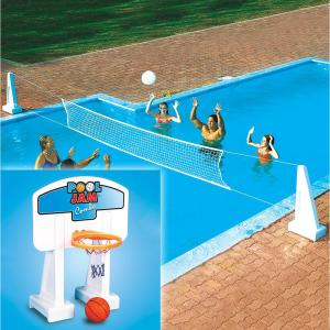 Swimline Pool Jam In-Ground Water Basketball and Volleyball Game Combo by Swimline