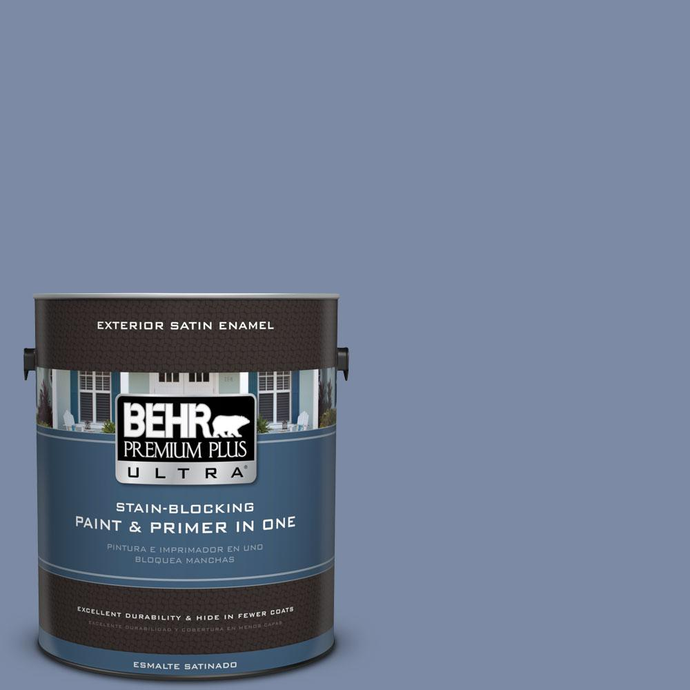 BEHR Premium Plus Ultra 1-gal. #PPU15-9 Hilo Bay Satin Enamel Exterior Paint