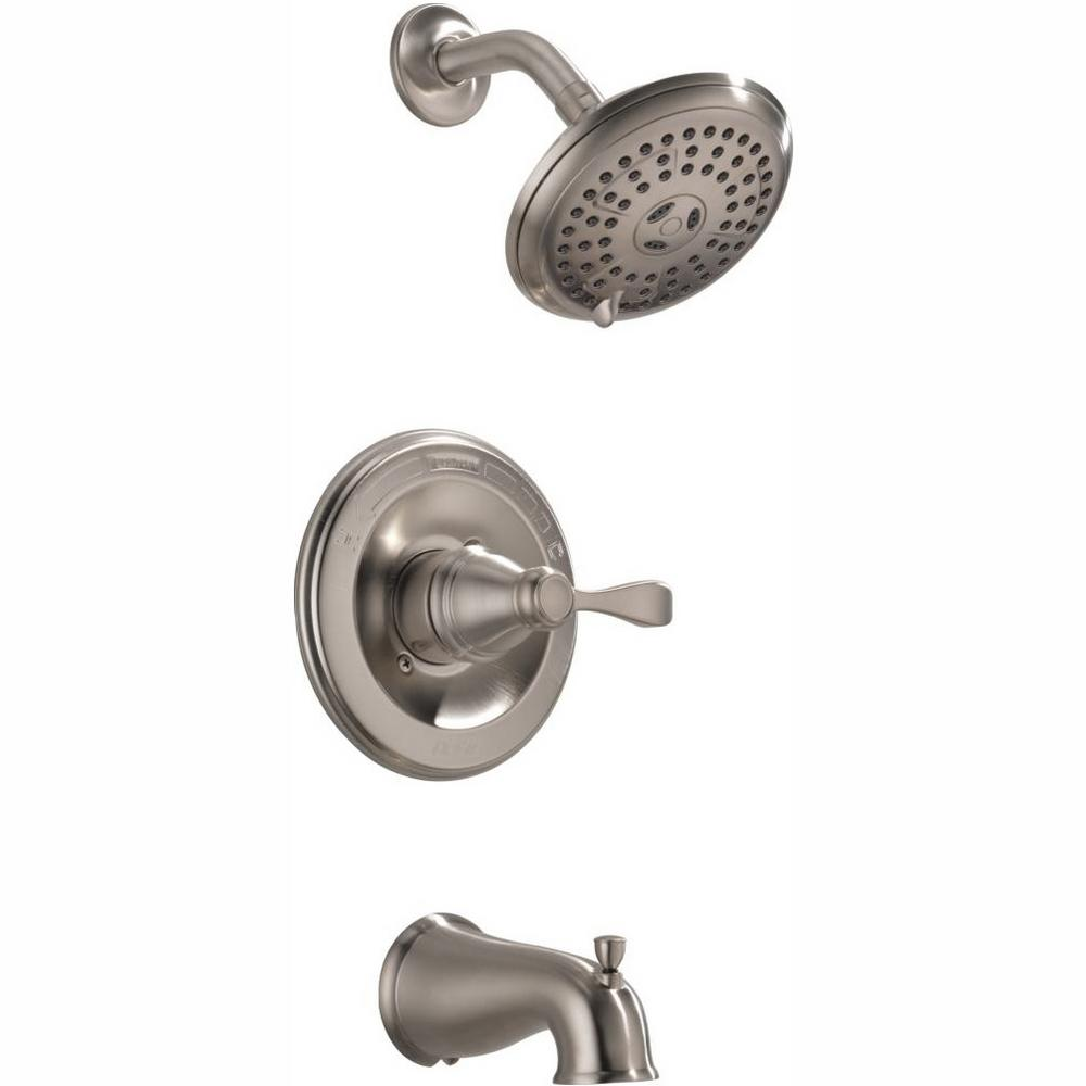 Delta Bathtub And Shower Faucets.Delta Porter Single Handle 3 Spray Tub And Shower Faucet In Brushed Nickel Valve Included