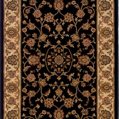 Kurdamir Rockland Black 33 in. x Your Choice Length Stair Runner